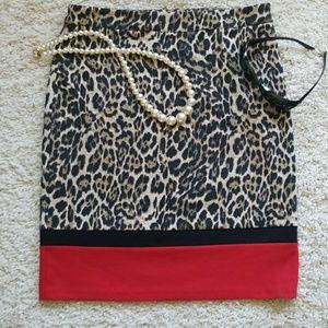 Rafaella Limited Edition Leopard Pencil Skirt